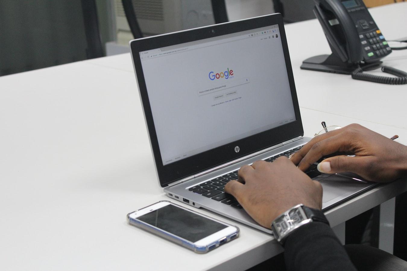 Scherm Google